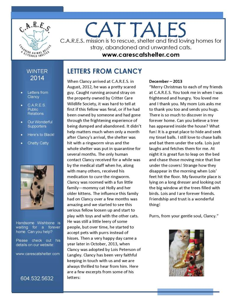 CARES Winter 2014 Newsletter_Page_1