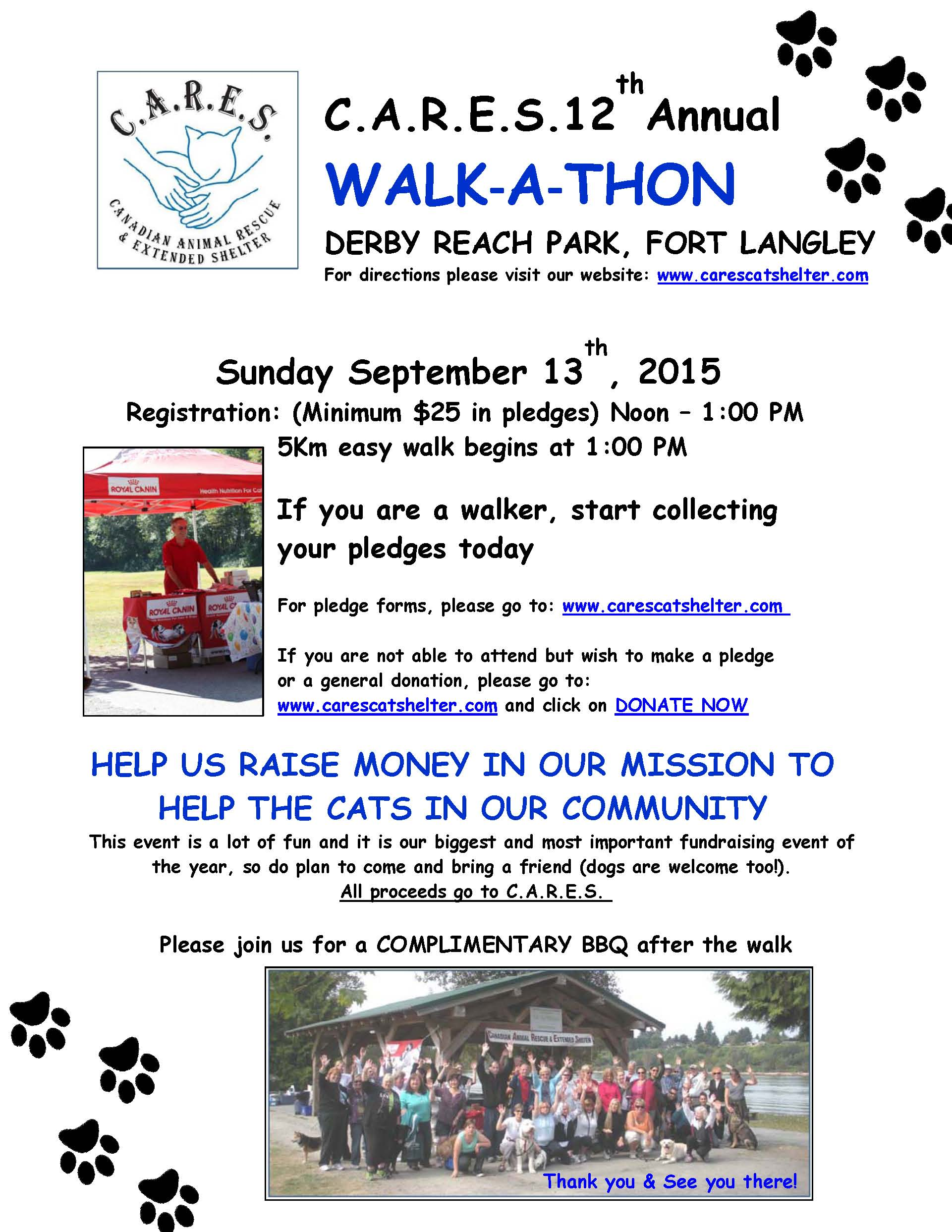 2015 CARES Walkathon Poster Final V3