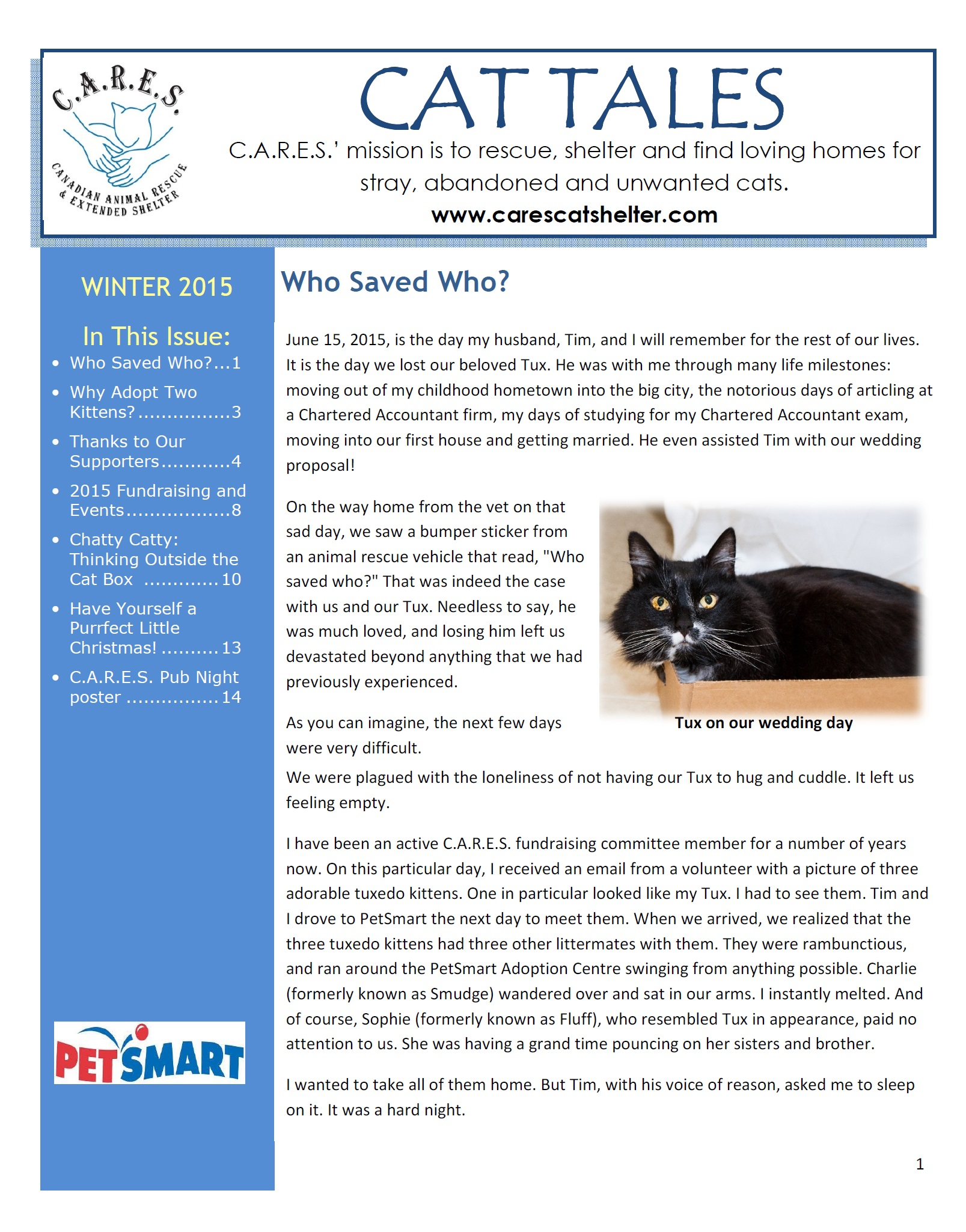 CARES 2015 newsletter Winter