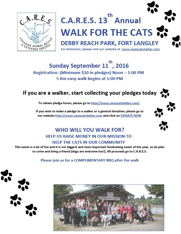 Walk for the Cats Poster - picture
